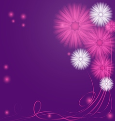Delicate Purple and Lilac Abstract Flowers vector image