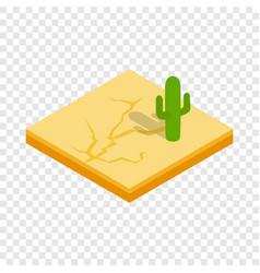 Desert cactus landscape isometric icon vector