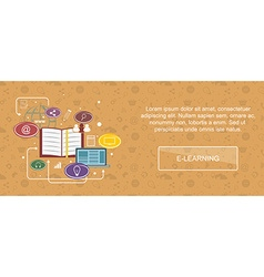 E-learning website banner vector