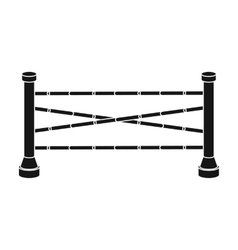 Equestrian barrier icon in black style isolated on vector image vector image