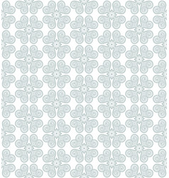 green gray flower seamless pattern background vector image vector image
