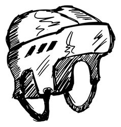 helmet vector image vector image