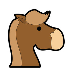 Horse rocking toy vector