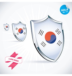 I Love Korea Flag vector image