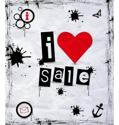 I love sale vector