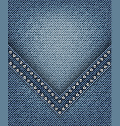 jeans with angle vector image vector image