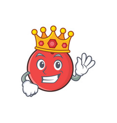 King bowling ball character cartoon vector