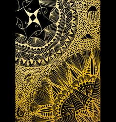 luxury golden wallpaper vintage floral pattern vector image vector image