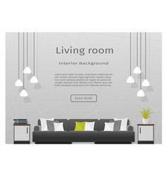 modern living room interior banner for your web vector image vector image