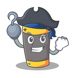 Pirate battery character cartoon style vector