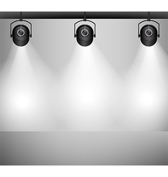 Spotlights background vector image vector image