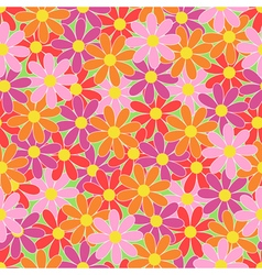 Summer colorful flowers seamless pattern vector image vector image