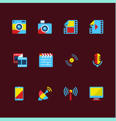 Technology icons in everyday life vector