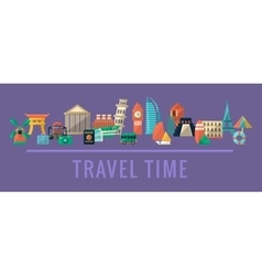 Traveling destinations set vector