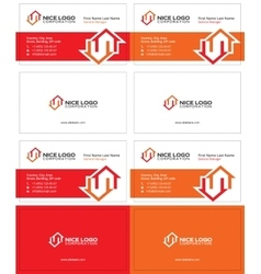 Two houses business card 1 vector
