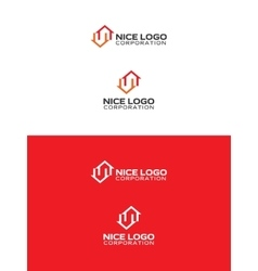 two houses logo vector image vector image