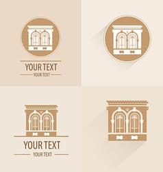 Vintage building for logo or symbol vector
