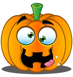Pumpkin face 9 vector