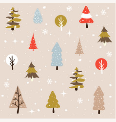 Seamless natural ornament on the christmas theme vector