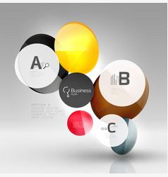 circle modern business infographics design vector image