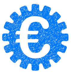 Euro cog icon grunge watermark vector