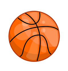 Basketball ball isolated vector
