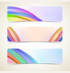 Abstract design horizontal banners set vector