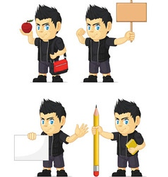Spiky rocker boy customizable mascot 4 vector