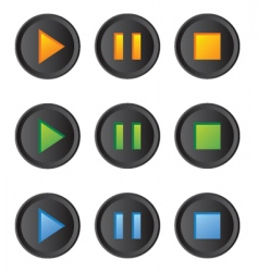 Music player buttons set vector