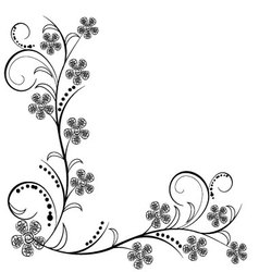 Antique flowers ornaments vector
