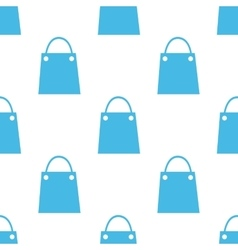 Flat shopping bag pattern vector