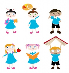 Cute students vector