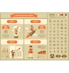 Technology flat design infographic template vector