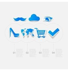 Set of sticker design Online shopping concept vector image