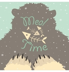 Bear meal time vector