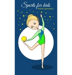Sports for kids artistic gymnastics vector
