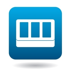 Windows in house icon simple style vector