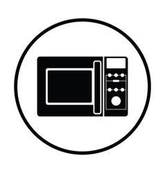 Micro wave oven icon vector