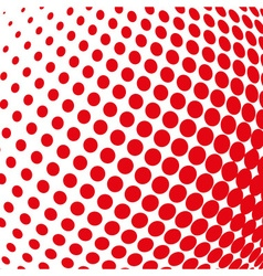 Red color halftone sphere abstract design vector