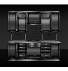 black kitchen vector image
