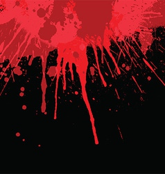 Blood splatter background vector image