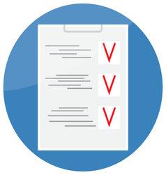 Checklist icon design flat vector