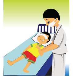 Child care doctor vector