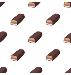 Chocolate bar icon in cartoon style isolated on vector