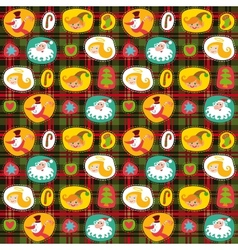 Christmas seamless background plaid pattern vector image vector image