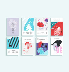 collection of creative universal trendy cards vector image vector image