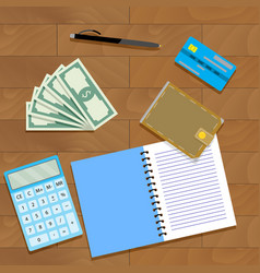 Finance plan concept vector