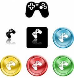 game controller icon vector image vector image