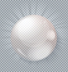 Glass ball gray transparent background vector