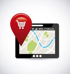 gps navigation vector image
